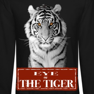 Eye of the Tiger White Long Sleeve Shirts - Crewneck Sweatshirt