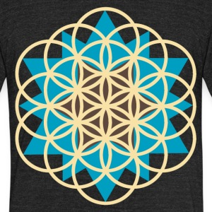 flower of life star T-Shirts - Unisex Tri-Blend T-Shirt by American Apparel