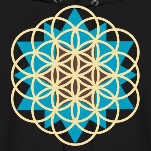 flower of life star Hoodies - Men's Hoodie