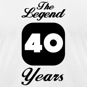 40 fortieth birthday: The Legend 40 Years  T-Shirts - Men's T-Shirt by American Apparel