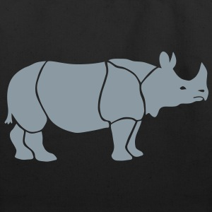 rhino rhinoceros africa horn horny wild animal colorful colors map funny happy Bags  - Eco-Friendly Cotton Tote