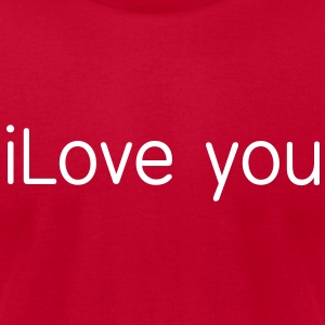 i love you T-Shirts - Men's T-Shirt by American Apparel