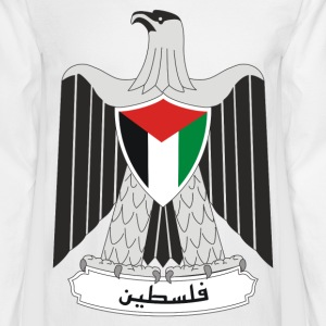 Crest Palestine (dd)++ Long Sleeve Shirts - Men's Long Sleeve T-Shirt