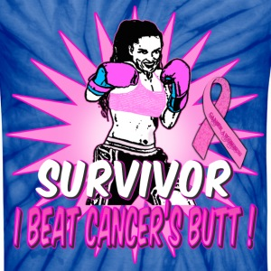 Survivor I Beat Cancers Butt breast cancer awarene T-Shirts - Unisex Tie Dye T-Shirt