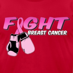 Fight Breast Cancer Pink Boxing Gloves T-Shirts