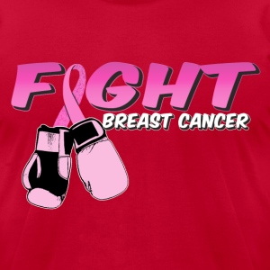 Fight Breast Cancer Pink Boxing Gloves T-Shirts - Men's T-Shirt by American Apparel