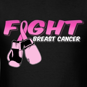 Fight Breast Cancer Pink Boxing Gloves T-Shirts - Men's T-Shirt