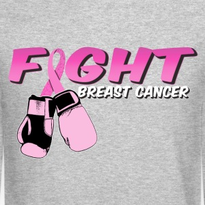 Fight Breast Cancer Pink Boxing Gloves Long Sleeve Shirts - Crewneck Sweatshirt