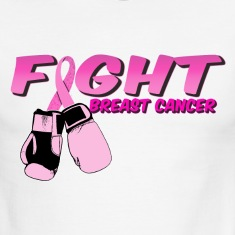 Fight Breast Cancer Pink Boxing Gloves 2 T-Shirts