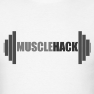 Design ~ Medium Weight Barbell MuscleHack T-Shirt