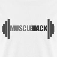 Design ~ Medium Weight Barbell MuscleHack T-Shirt