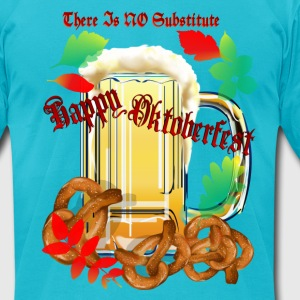 Beer and Pretels-There Is NO Substitute - Men's T-Shirt by American Apparel