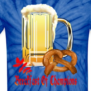 Breakfast Of Champions-Happy Oktoberfest! - Unisex Tie Dye T-Shirt