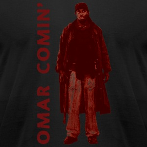 omar coming red - Men's T-Shirt by American Apparel