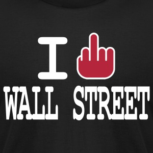 i f**k wall street T-Shirts - Men's T-Shirt by American Apparel