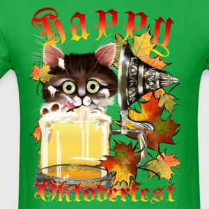 Happy Oktoberfest Beer Kitty - Men's T-Shirt