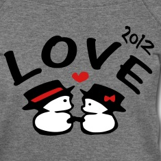 love 2012 txt snowman vector art Womens Wideneck Sweatshirt