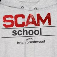 Design ~ Scam School Men's Grey Hoodie