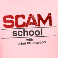Design ~ Scam School Ladies Pink Tee