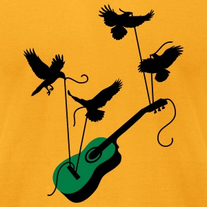 Guitar Birds T-Shirts - Men's T-Shirt by American Apparel