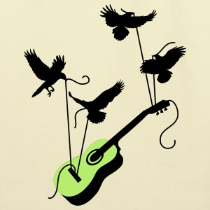 Guitar Birds Bags  - Eco-Friendly Cotton Tote
