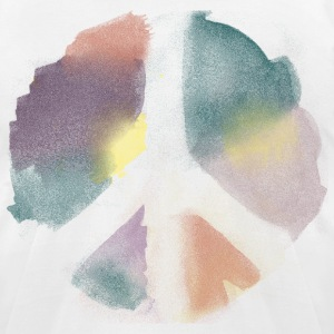 Watercolor Peace T-Shirts - Men's T-Shirt by American Apparel