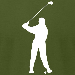Golfer Silhouette T-Shirts - Men's T-Shirt by American Apparel