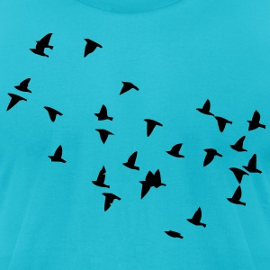 Flock of Birds T-Shirts - Men's T-Shirt by American Apparel