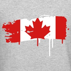painted flag of Canada Long Sleeve Shirts
