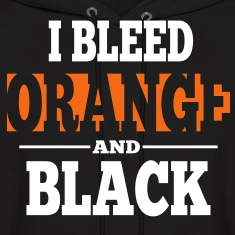 I Bleed Orange and Black Hoodie - Black