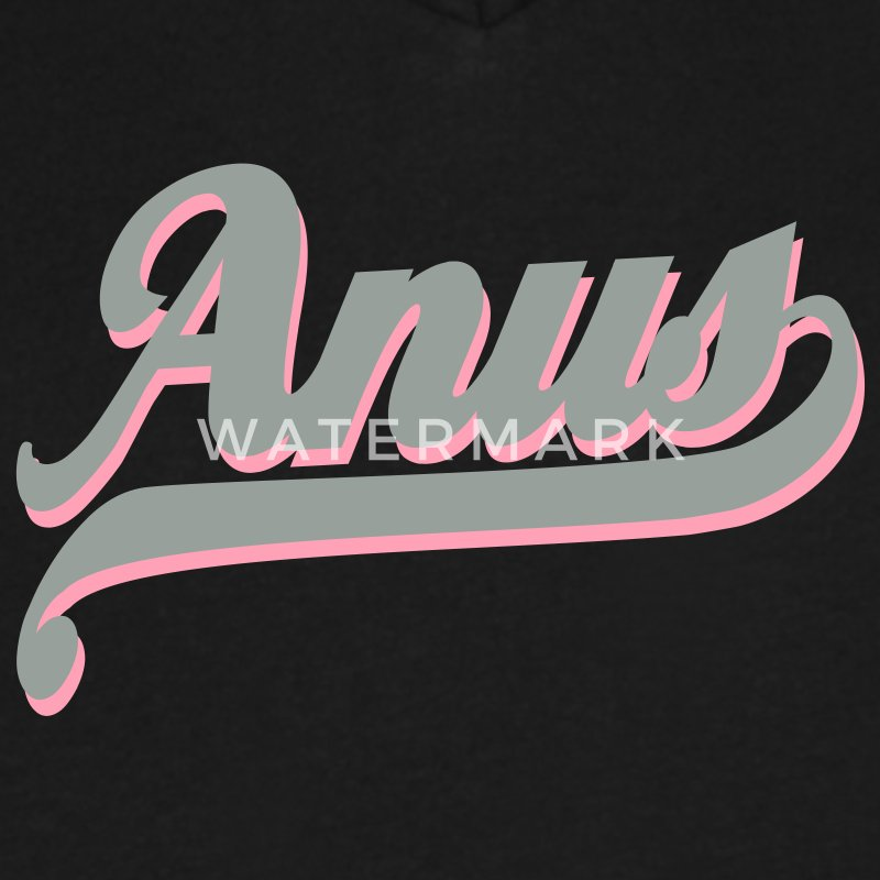 Anus  T-Shirts - Men's V-Neck T-Shirt by Canvas