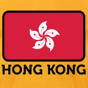 Flag Hong Kong 2 (dd)++ T-Shirts - Men's T-Shirt by American Apparel