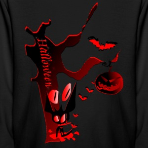 Halloween Horror party graphic art Kid's Long Sleeve T-Shirt - Kids' Long Sleeve T-Shirt