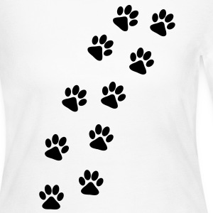 Dog Paw Track Long Sleeve Shirts - Women's Long Sleeve Jersey T-Shirt