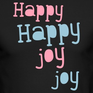happy happy joy joy Long Sleeve Shirts - Men's Long Sleeve T-Shirt by Next Level