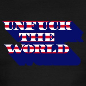 unfuck the world T-Shirts - Men's Ringer T-Shirt