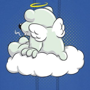 Dead Polar Bear sitting on Cloud Hoodies - Men's Hoodie