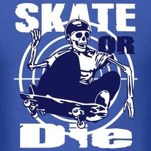 Skeleton skateboarder T-Shirts - Men's T-Shirt