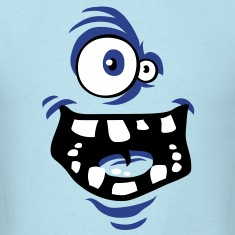 Funny monster face T-Shirts