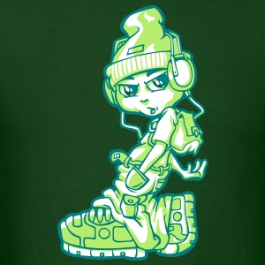 B-boy and mp3 player T-Shirts - Men's T-Shirt