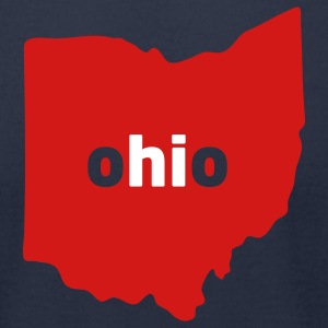 Hi, Ohio (Cleveland Indians) - Men's T-Shirt by American Apparel