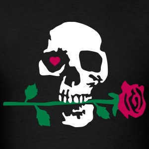 death_rose_092011_a_3c T-Shirts - Men's T-Shirt