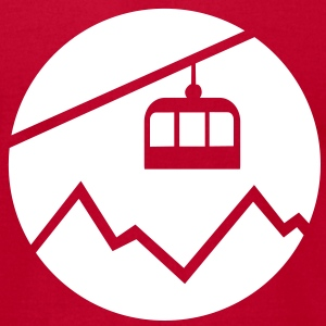 Cable car mountains T-Shirts - Men's T-Shirt by American Apparel