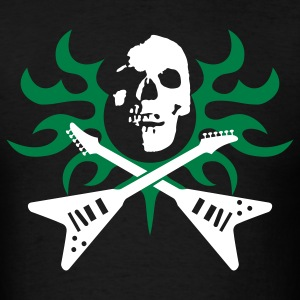skull_tribal_guitars_092011_a_3c T-Shirts - Men's T-Shirt