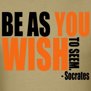 Socrates Quote T-Shirts - Men's T-Shirt