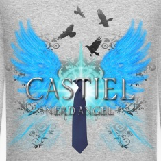 Castiel Nerd Angel 2 Long Sleeve Shirts