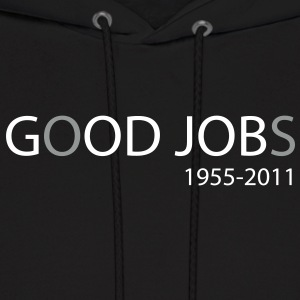 God Job vs Good Jobs - Steve Jobs tribute Hoodies - Men's Hoodie
