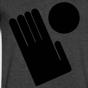 Large glove hand T-Shirts - Men's V-Neck T-Shirt by Canvas