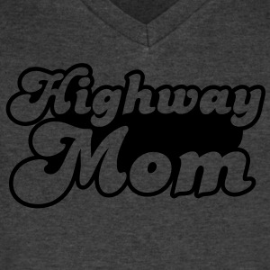 highway mom T-Shirts - Men's V-Neck T-Shirt by Canvas