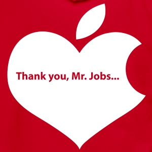 THANK YOU MR JOBS Hoodies - Unisex Fleece Zip Hoodie by American Apparel